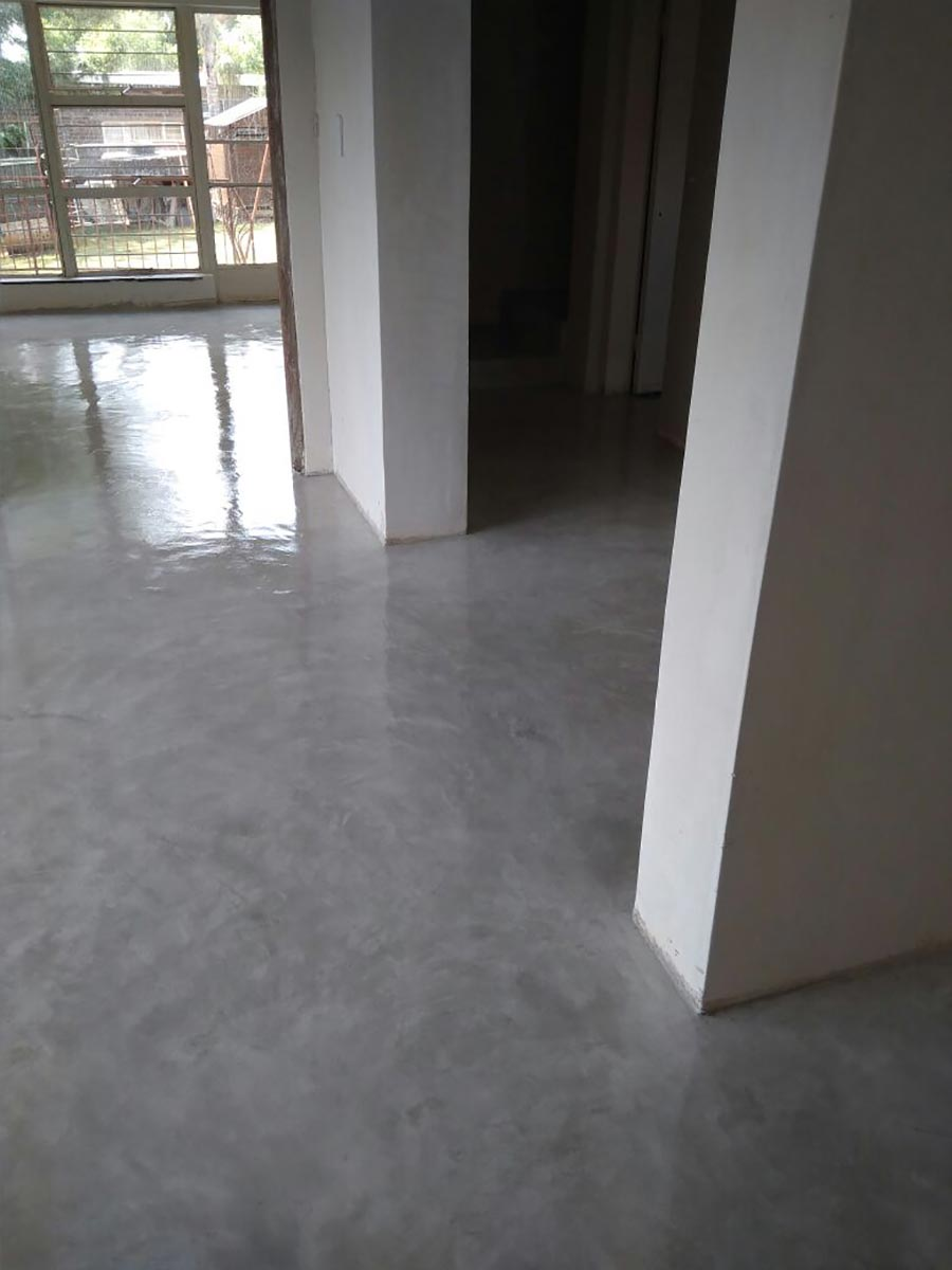 decorative cement floor