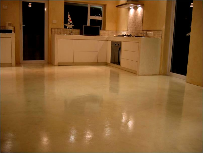 Cement Floors Polished Epoxy Seamless Decorative